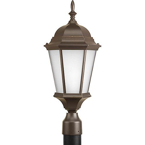 Fluorescente de Lampadaire à 1 Lumière, Collection Welbourne - fini Bronze à l'Ancienne