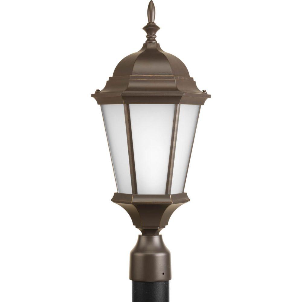 Welbourne Collection 1 Light Antique Bronze Fluorescent Post Lantern
