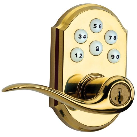 Toluca SmartCode Lever Featuring SmartKey Technology, Brass Finish