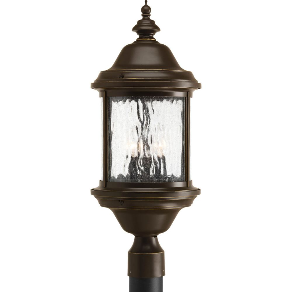 Ashmore Collection 3 Light Antique Bronze Post Lantern