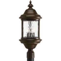 Progress Lighting Ashmore Collection 3 Light Antique Bronze Post Lantern