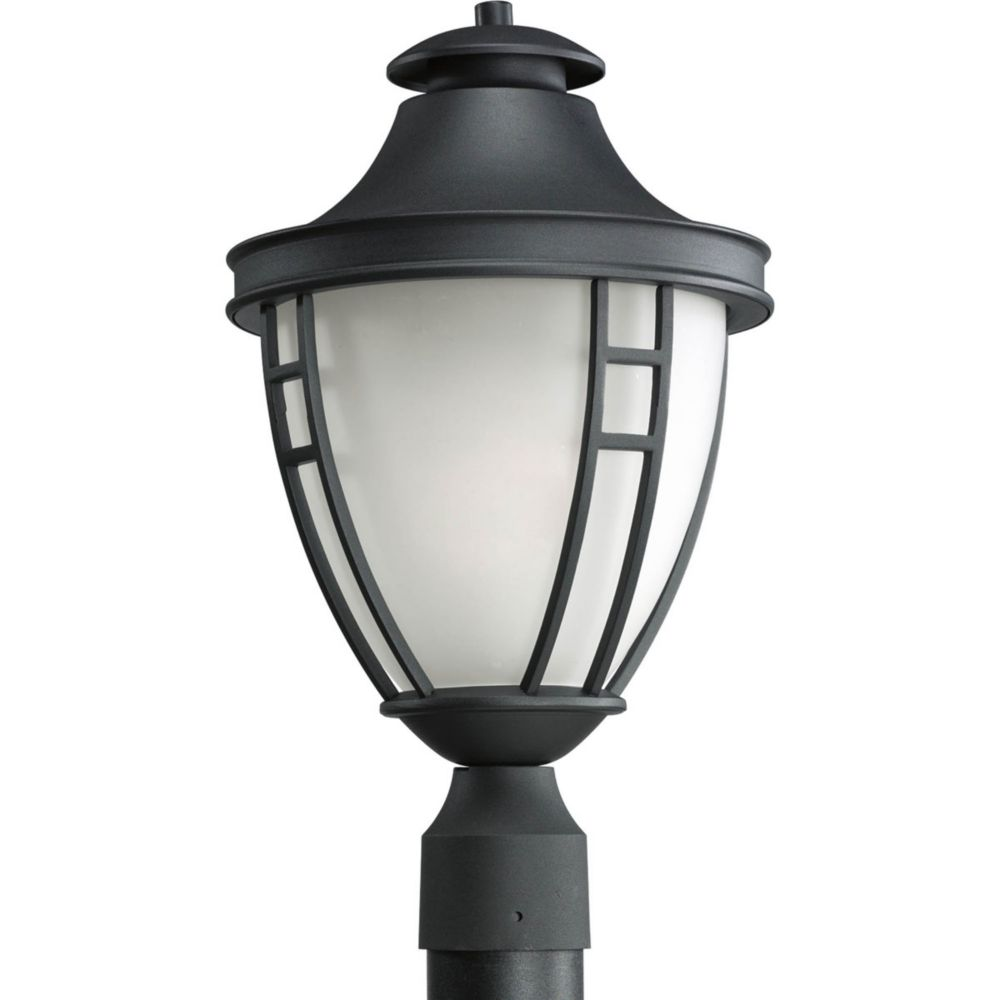 Fairview Collection 1 Light Black Fluorescent Post Lantern