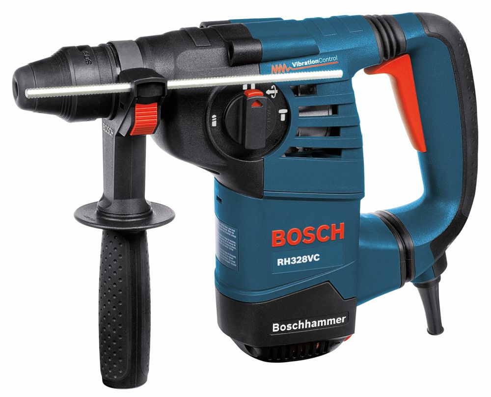 Bosch 120V Keyless Corded 1-1/8 Inch SDS-Plus Rotary Hammer with 360 Auxiliary Handle