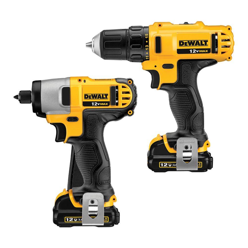 DEWALT 12V MAX Li-Ion Drill/Impact Driver Combo Kit