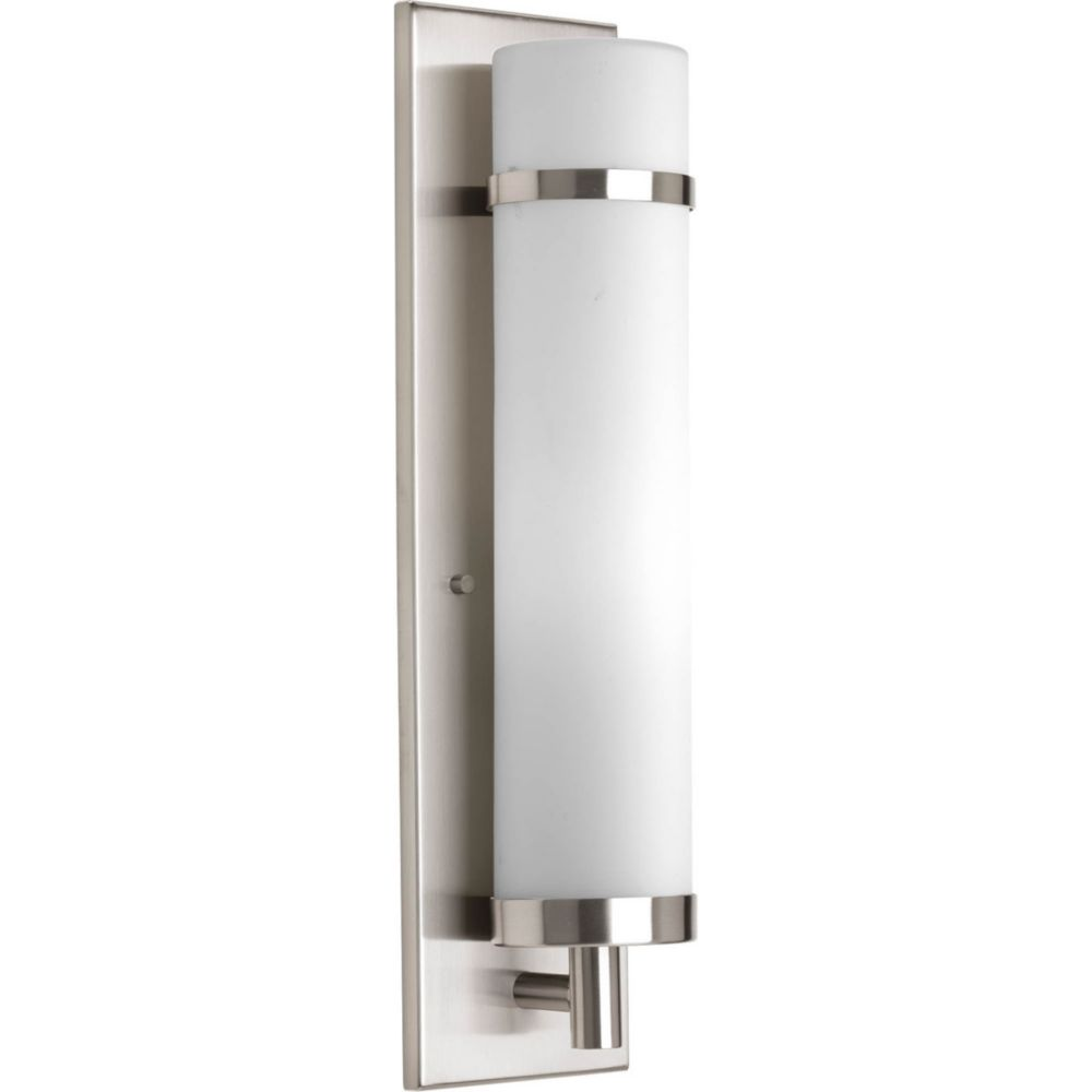 1 Light Brushed Nickel Fluorescent Wall Sconce