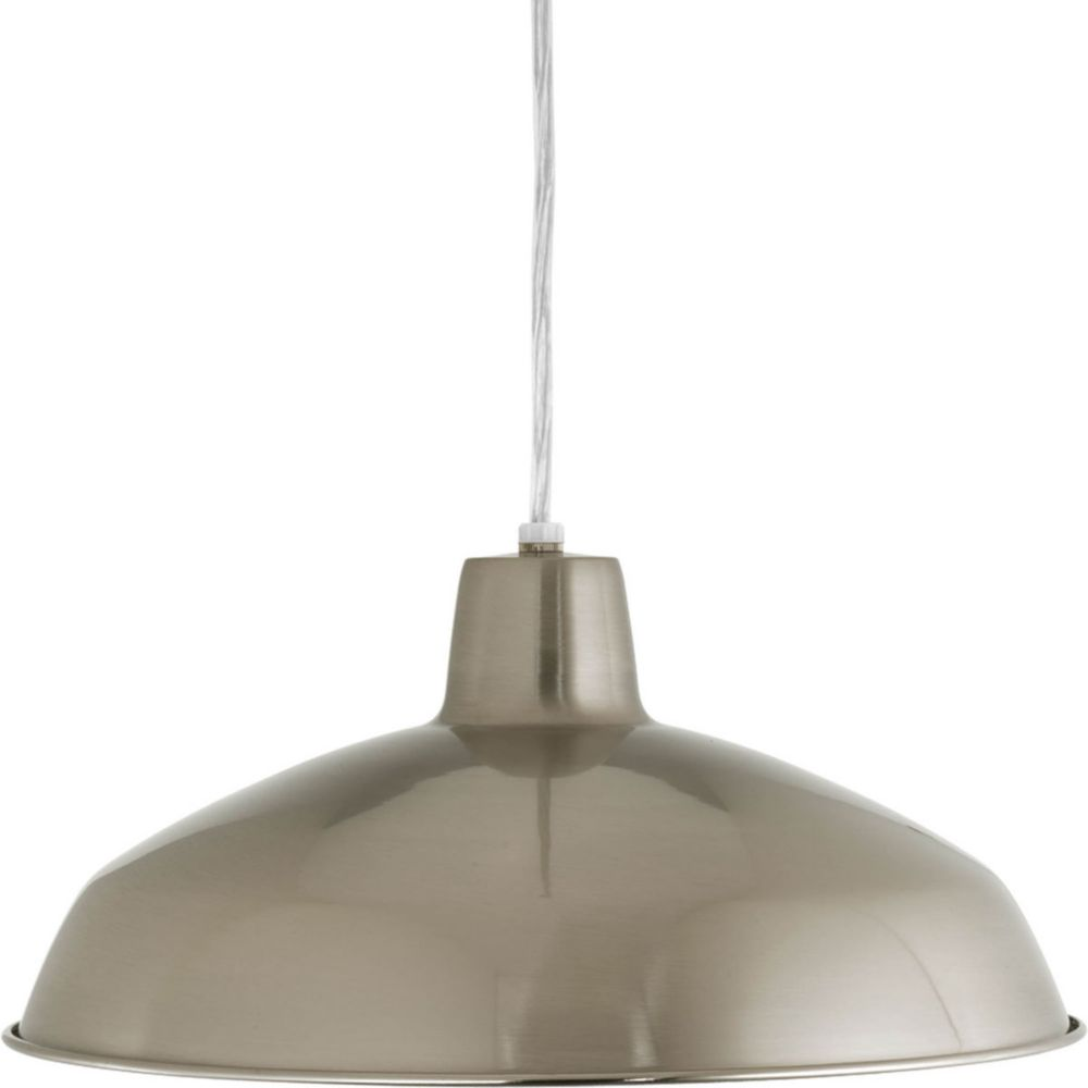 Progress Lighting 1 Light Brushed Nickel Pendant The