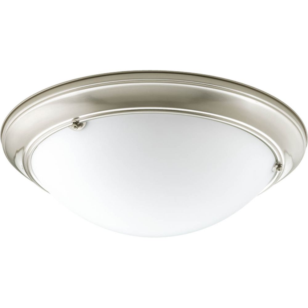 Eclipse Collection 4 Light Brushed Nickel Flushmount