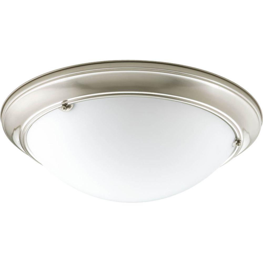 Fluorescente de Plafonnier à 4 Lumières, Collection Eclipse - fini Nickel Brossé