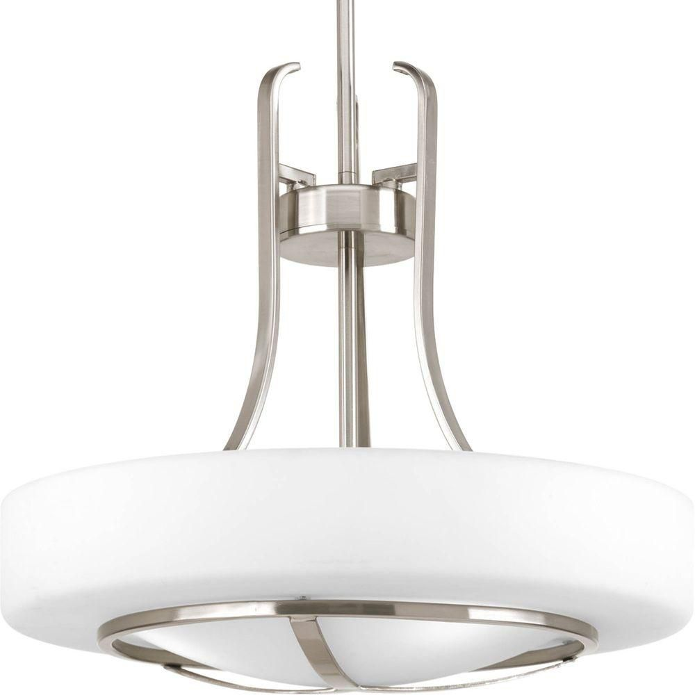 Home Depot Canada Foyer Lighting : Progress lighting torque collection light brushed nickel