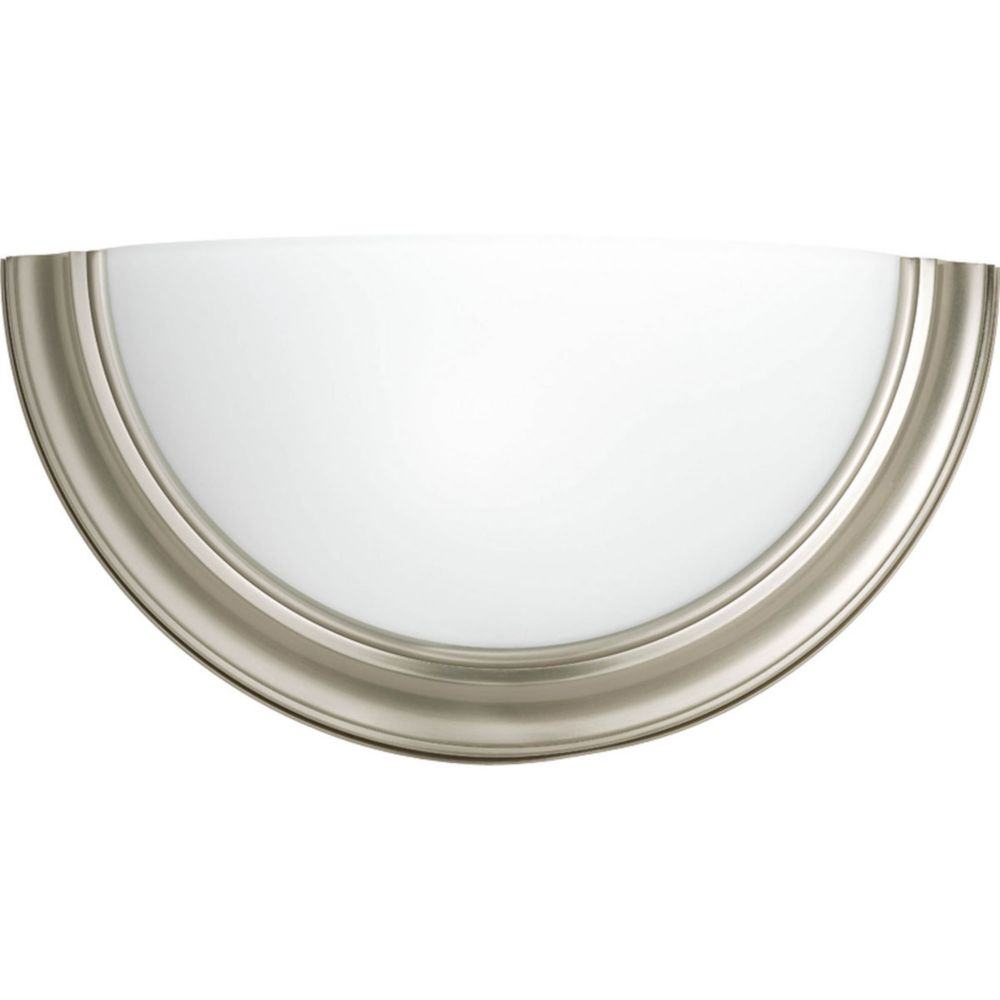 Eclipse Collection 1 Light Brushed Nickel Wall Sconce