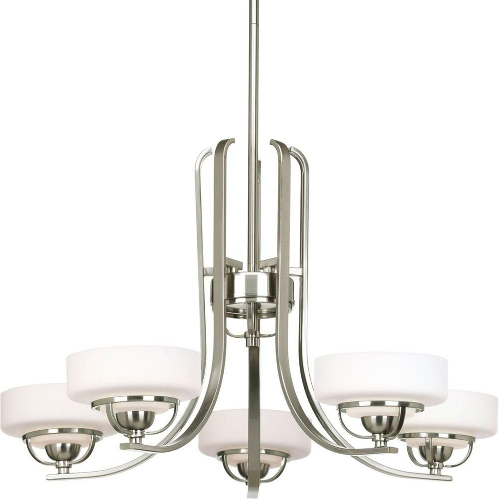 Torque Collection 5 Light Brushed Nickel Chandelier