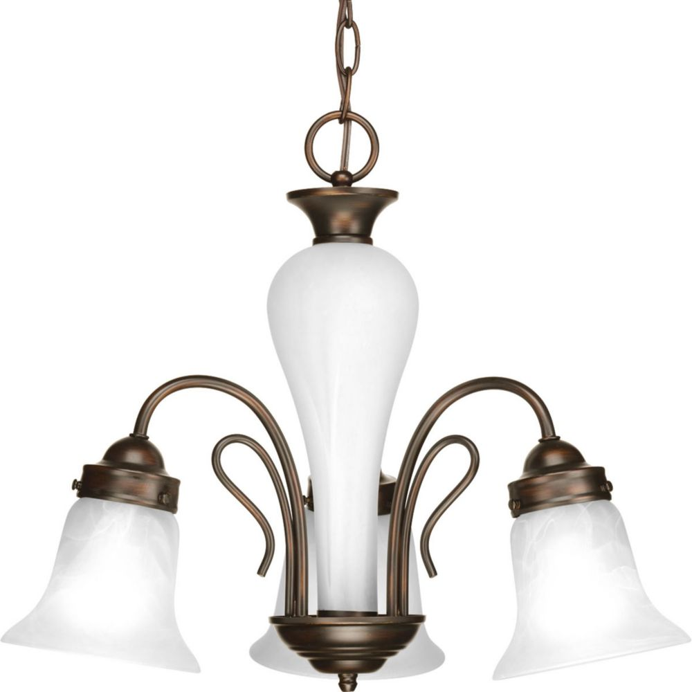 Bedford Collection 3 Light Antique Bronze Chandelier
