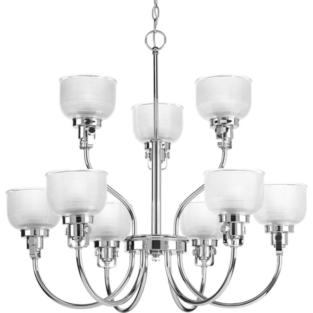 Progress Lighting Archie Collection 9 Light Chrome Chandelier