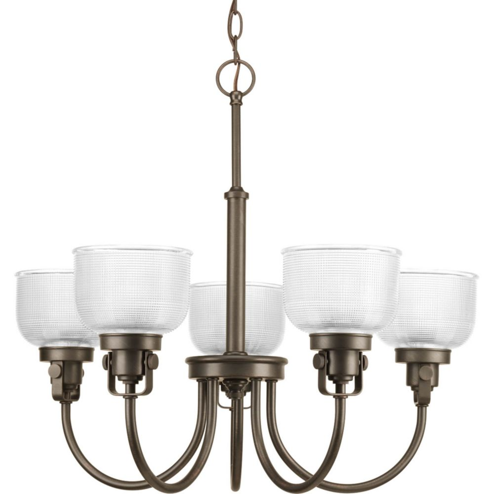 Venetian Bronze Chandelier: Progress Lighting Archie Collection 5-Light Chandelier In
