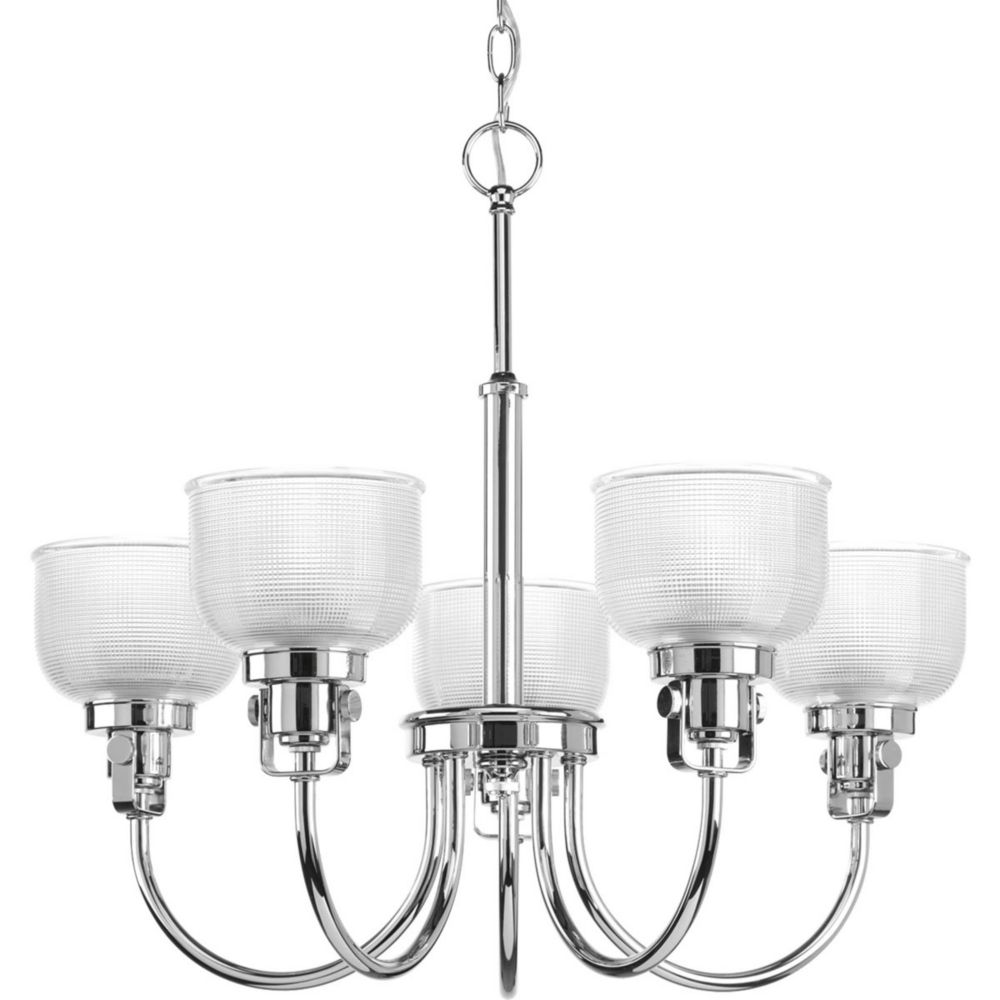 Progress Lighting Archie Collection 5 Light Chrome Chandelier