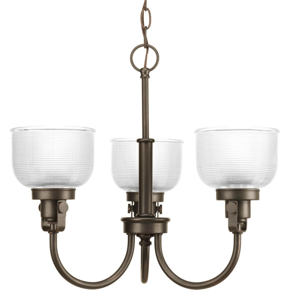 Lustre à 3 Lumières, Collection Archie - fini Bronze Venitiem