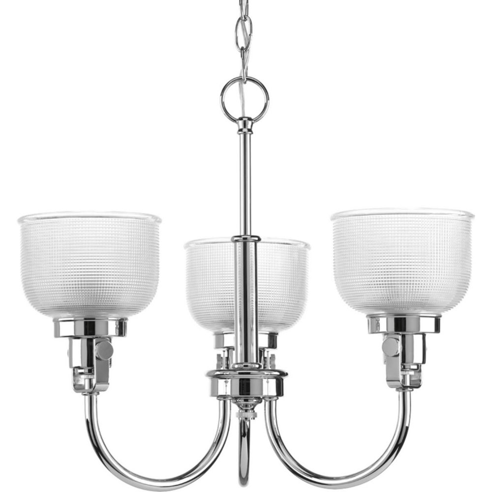 Archie Collection 3 Light Chrome Chandelier