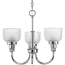 Progress Lighting Archie Collection 3-Light Chandelier in Chrome