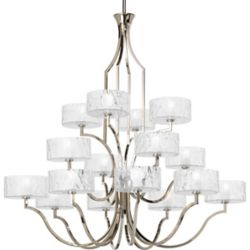 Progress Lighting Caress Collection 16 Light  Polished Nickel Chandelier