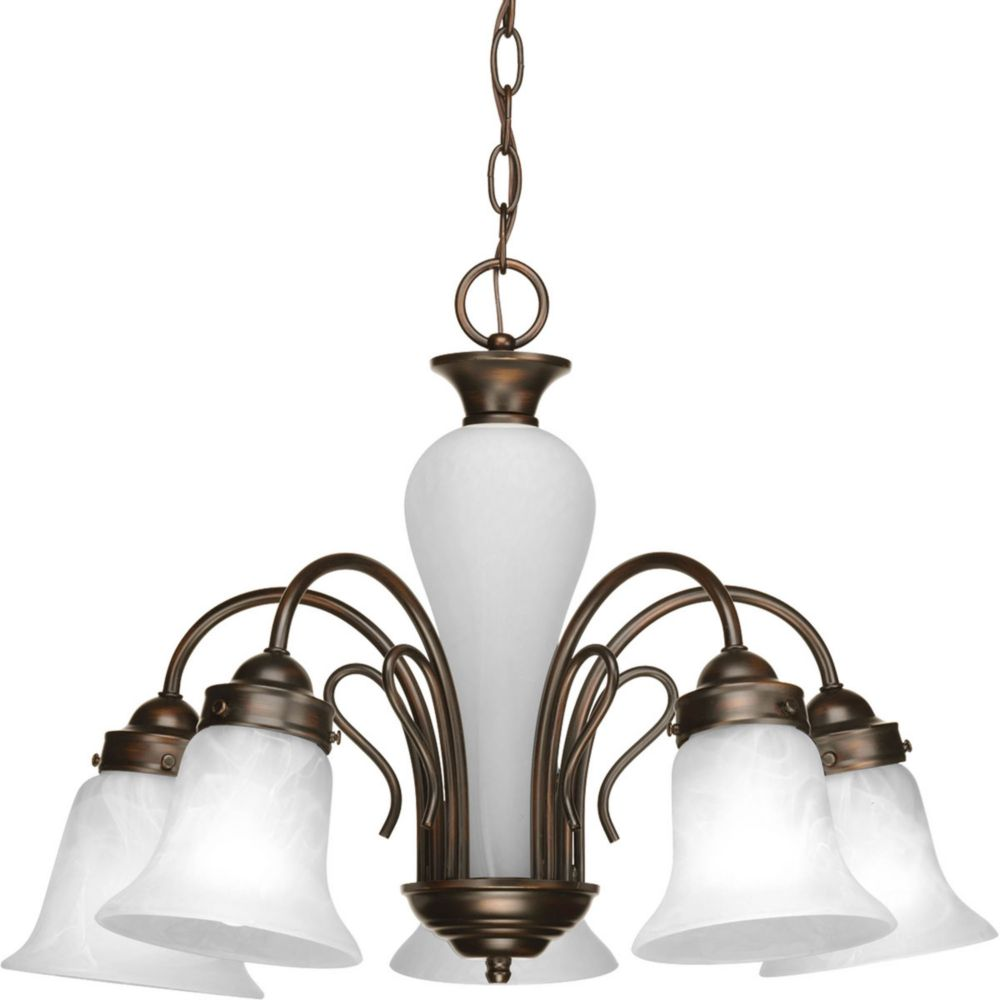 Bedford Collection 5 Light Antique Bronze Chandelier