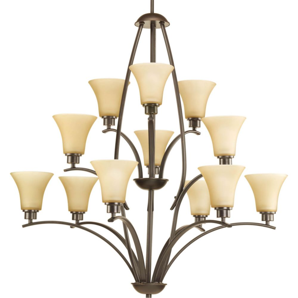 Joy Collection 12+1 Light Antique Bronze Chandelier