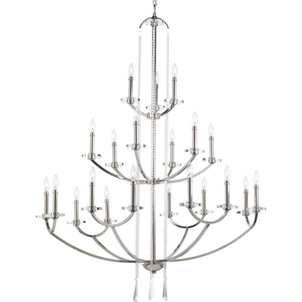 Nisse Collection 21 Light  Polished Nickel Chandelier
