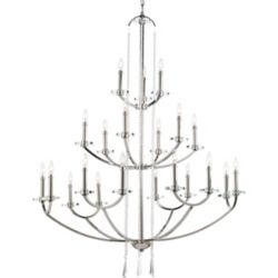 Progress Lighting Nisse Collection 21 Light  Polished Nickel Chandelier