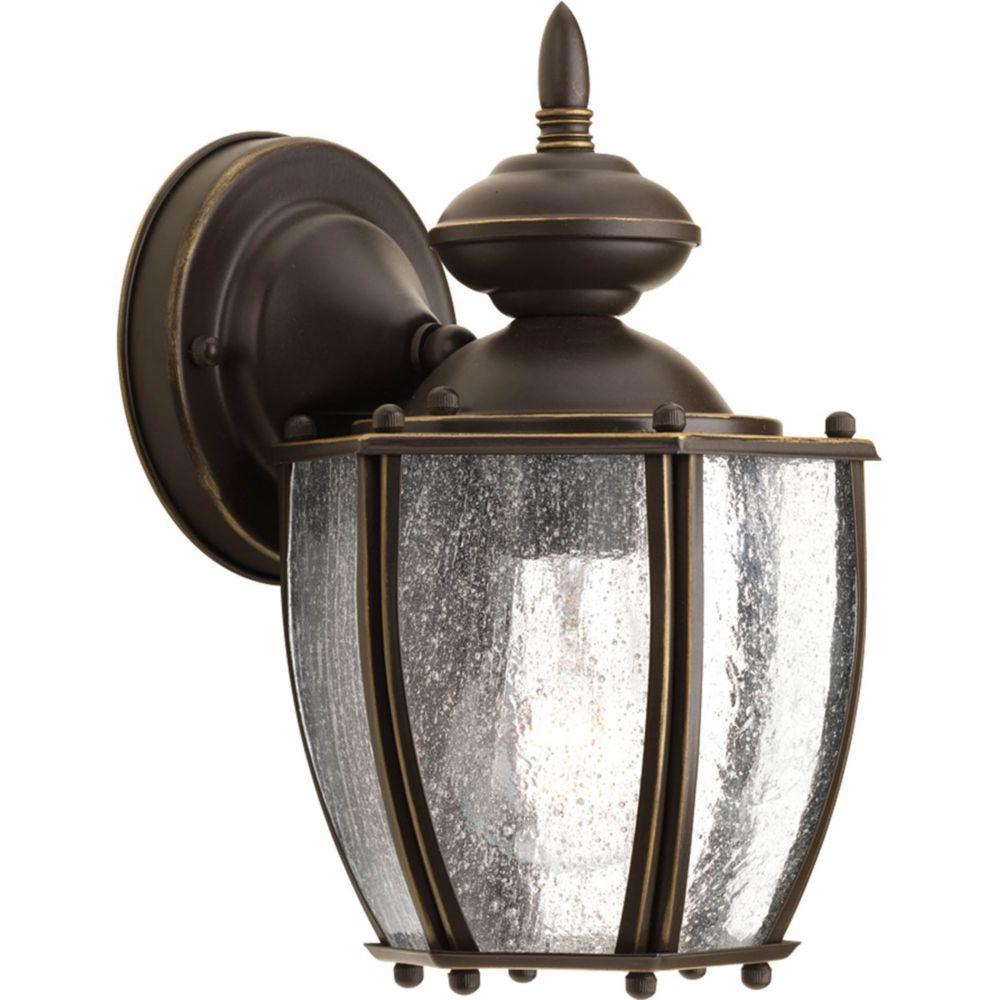 Lanterne murale à 1 Lumière, Collection Roman Coach - fini Bronze à l'Ancienne