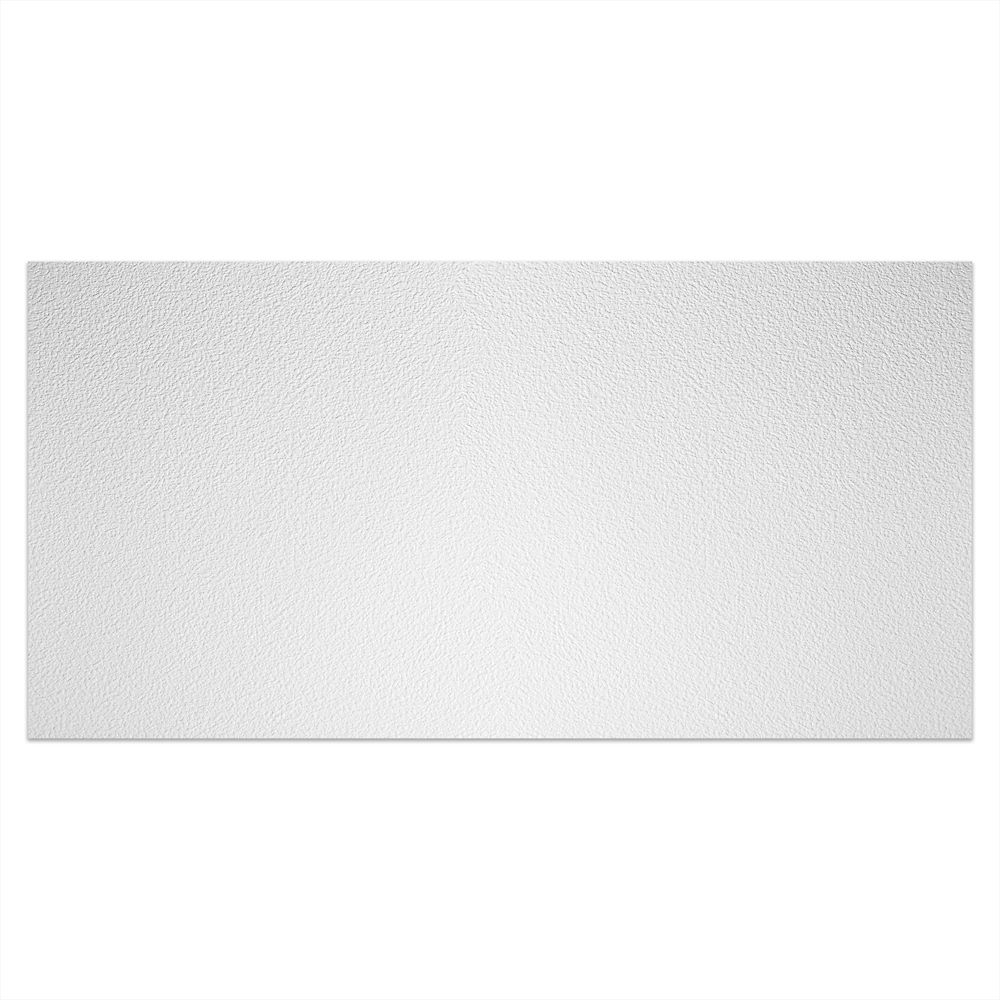 2  Feet x 4  Feet Stucco Pro White Lay In Ceiling Tile