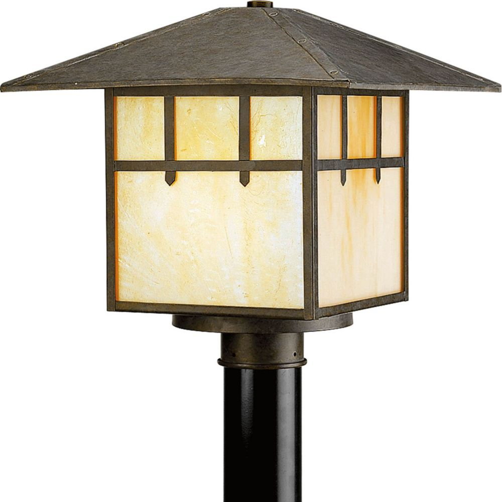 Mission Collection 1 Light Weathered Bronze Post Lantern