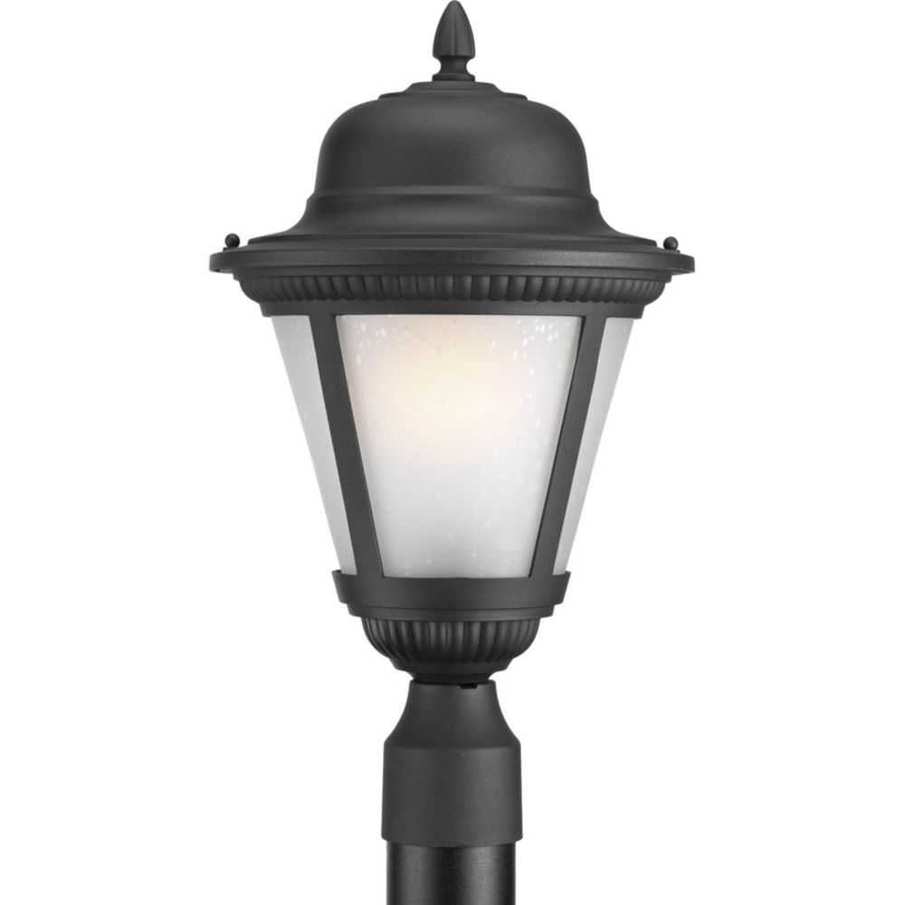 Westport Collection 1 Light Black Fluorescent Post Lantern