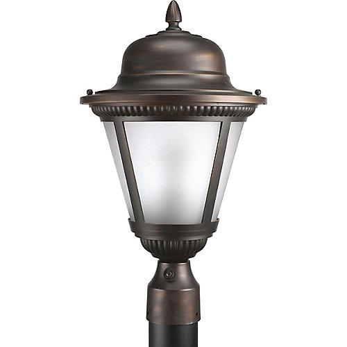 Fluorescente de Lampadaire à 1 Lumière, Collection Westport - fini Bronze à l'Ancienne