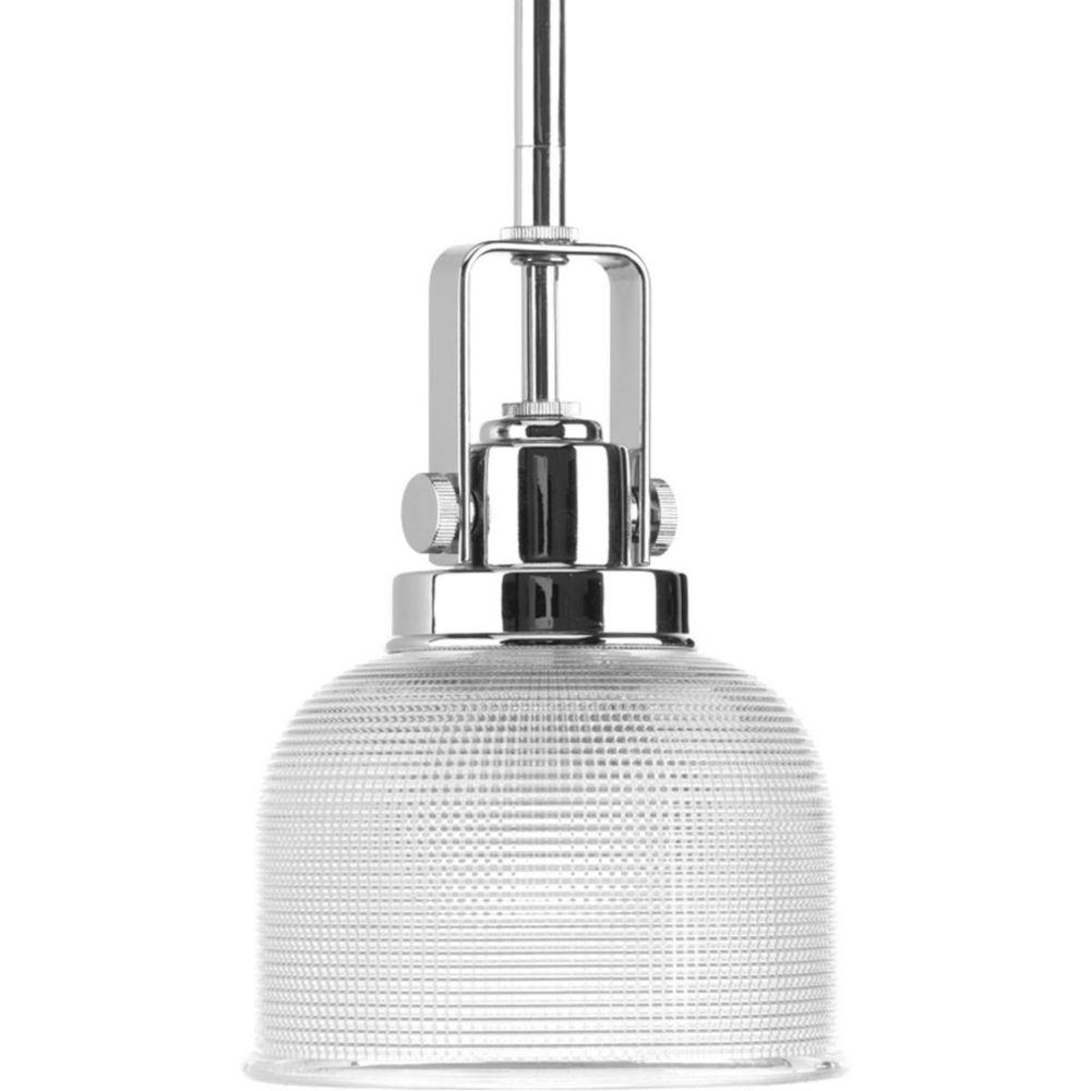 Mini suspension à 1 Lumière, Collection Archie - fini Chrome