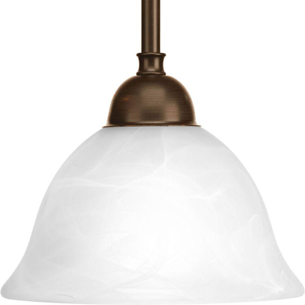 Mini suspension à 1 Lumière, Collection Avalon - fini Bronze à l'Ancienne