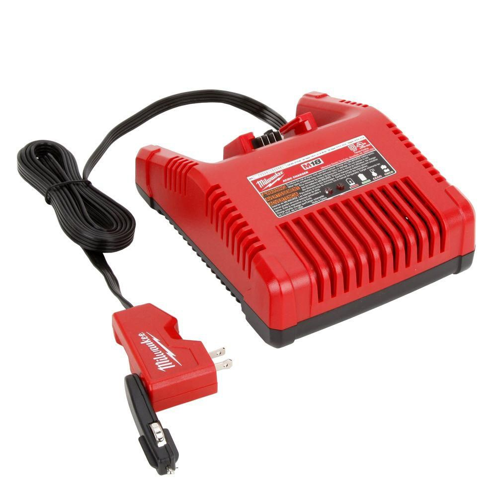 M18� Lithium ion AC/DC Wall and Vehicle Charger