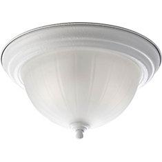 Fluorescente de Plafonnier à 2 Lumières - fini Blanc