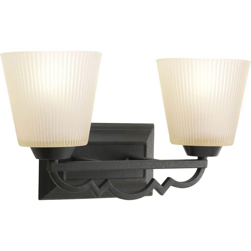 Meeting Street Collection 2 Light Forged Black Bath Light