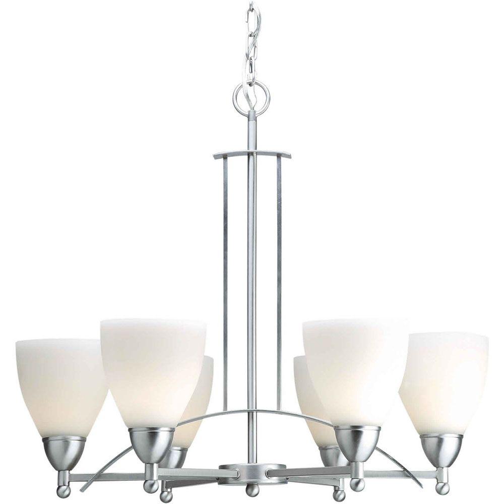 Filament Design Burton 6-Light Ceiling Brushed Nickel Chandelier