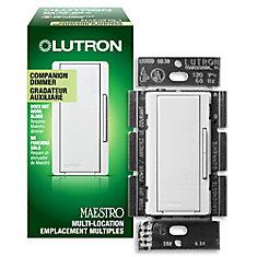 Maestro 600-Watt Companion Dimmer - White