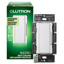Lutron Maestro 600-Watt Companion Dimmer - White