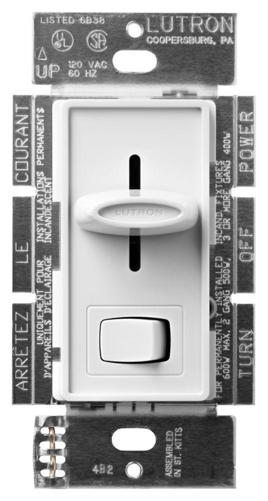 Skylark 600-Watt Single Pole Dimmer - White