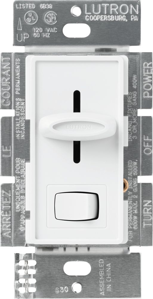 Lutron Skylark 450-Watt Single-Pole Magnetic Low-Voltage Dimmer, White