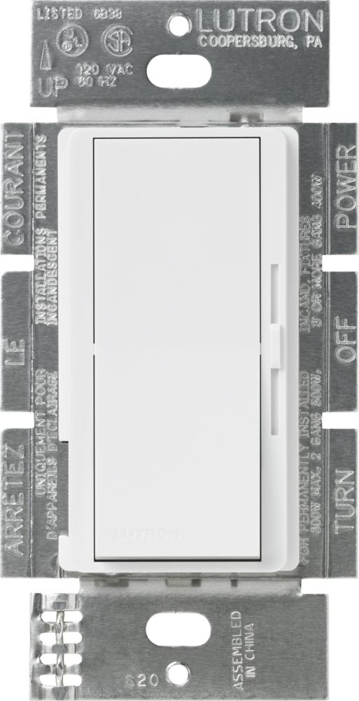 Diva 600-Watt Single Pole Dimmer - White