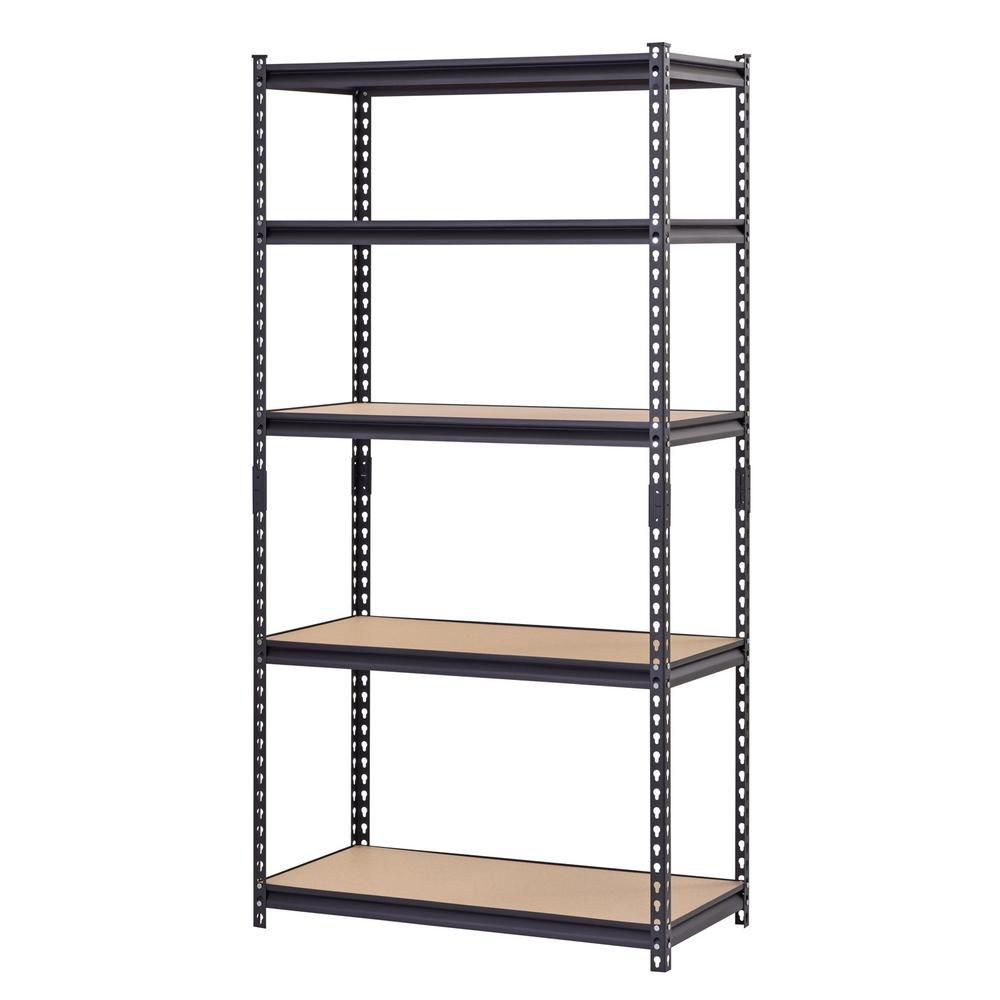 Heavy Duty Steel Shelving-5 Shelf 36 Inch W x 18 Inch D