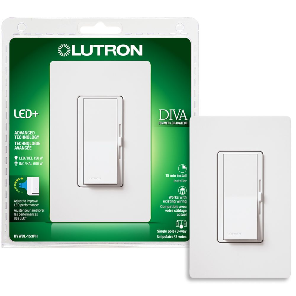 Lutron Skylark Contour 150 Watt Single Pole 3 Way Led Cfl Dimmer Low Cost Precision Light Control Diva