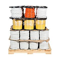 Câbre électrique en cuivre Romex SIMpull NMD90 – Palette mixte de 49 bobines pour entrepreneur professionnel