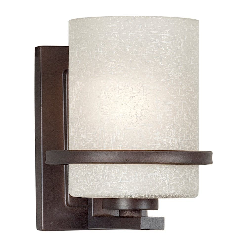 lumière fixée au mur avec abat-jour de spécialité couleur en bronze