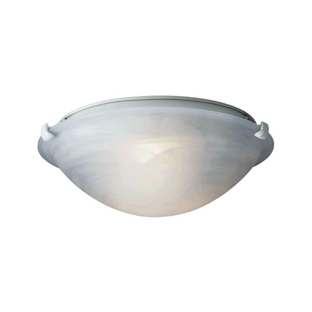 Burton 3-Light Ceiling WhiteFlush Mount