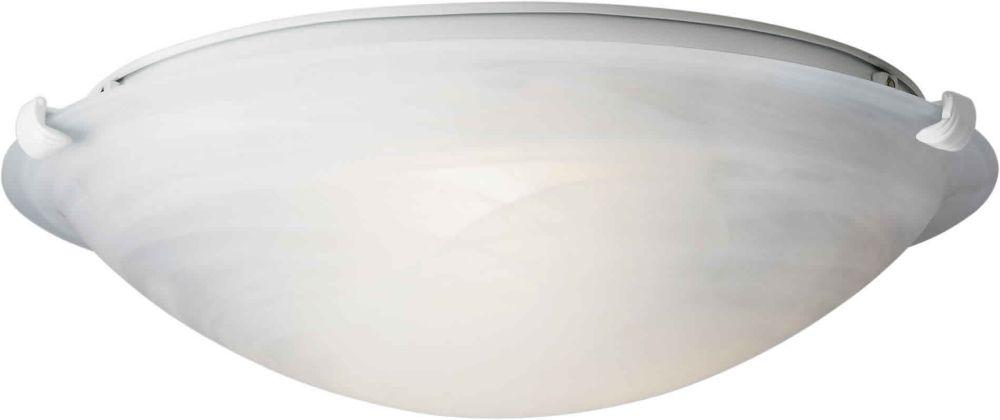 Burton 2-Light Ceiling WhiteFlush Mount