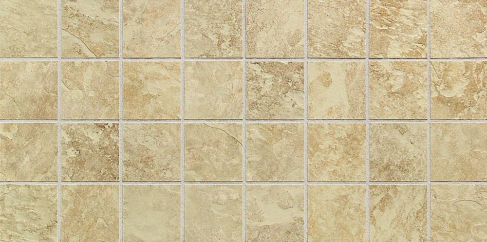 Continental Slate 3-inch x 3-inch Tile in Egyptian Beige